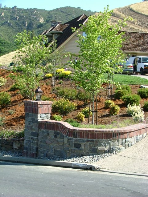 Estate Entrance with Dry Creek Bed